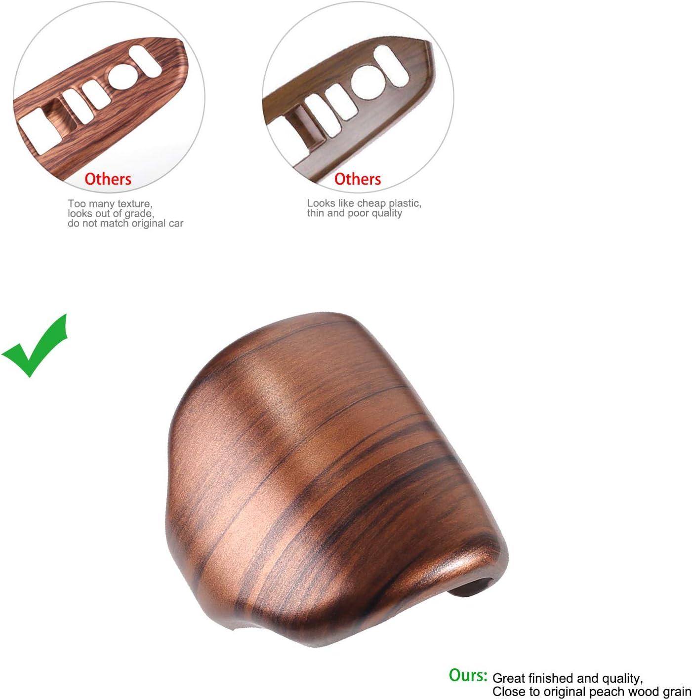 Thenice for CR-V Gear Panel Trim Shift Box Cover Interior Peach Wood Grain Moulding for Honda CRV 2017 2018 2019 2020