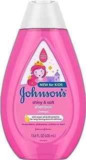 Johnson's Baby Shiny & Soft Tear-Free Kids Shampoo with Argan Oil, Gentle & Sulfate-Free, 13.6 fl. oz.