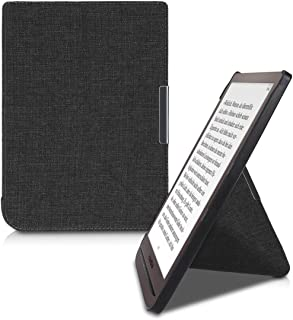 kwmobile kwmobile Origami Case for Pocketbook InkPad 3 - Ultra Slim Fit Fabric Cover with Magnet and Stand - Dark Grey