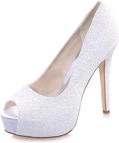 Elegant high chaussures Femmes Chaussures de Mariage Fish Tail Toe Fines avec des Pompes en Satin Plus de Couleurs Disponibles Grande Taille personnalisée
