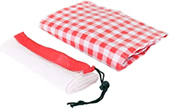 Keri & Joachim 6ft Vinyl Rectangle Tablecloth Stay Put Elastic Edge Fitted Wipeable Spillproof Table Cloth with Soft Flannel Backing Heavy Duty Plastic Table Cover Red Checkered Plaid 6ft x 2.5ft