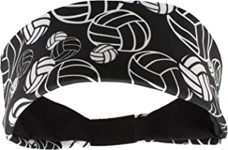 Crazy Volleyball Headband with Volleyball Logos