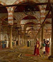 Berkin Arts Jean Leon Gerome Giclee Canvas Print Paintings Poster Reproduction(Prayer in The Mosque)
