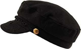 SK Hat shop Men's Greek Fisherman Sailor Fiddler Winter Wool Driver Hat Flat Cap