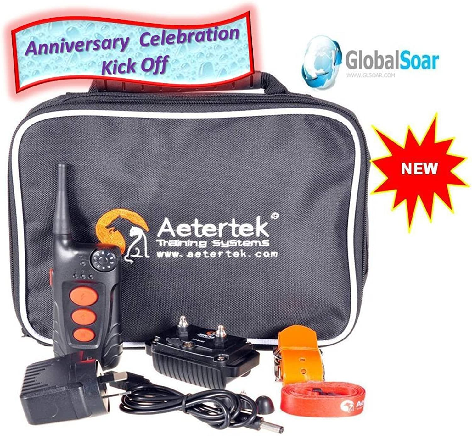 Aetertek 918C1 600 Yard 9 Level 1 Dog Training Anti Bark & Waterproof Collar