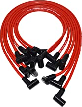 A-Team Performance Silicone Spark Plug Wires Set Compatible With SBC Small Block Chevy Chevrolet GMC Over the Valve Cover Wires 283 305 307 327 350 400 Red 8.0mm