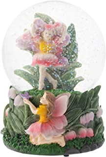Elanze Designs Bell Flower Fairy Friends 100MM Musical Water Globe Plays Tune You are My Sunshine