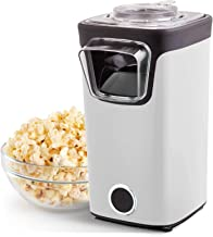 DASH DAPP155GBWH06 Turbo POP Popcorn Maker + Measuring Cup for Kernels and to Melt Butter, 8, White