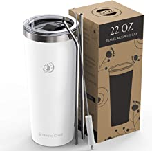 Umite Chef 22oz Tumbler Insulated Stainless Steel Travel Tumbler Mug with Lid, 2 Straws & Brush Durable Insulated Coffee M...