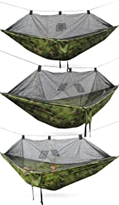 BKWL mosquitera para Hamaca Cama de Camping portátil cámping Silla Inflable 260 Camuflaje