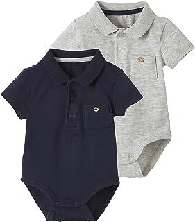 Vertbaudet VERTBAUDETLot de 2 Bodies bébé Naissance col Polo avec Poche