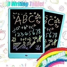 TEKFUN 10 Pulgadas Tablet para niños,Portatiles Buenos,Tableta de Escritura LCD de con Bloqueo de Pantalla borrable y función Reutilizable,Pizarra Luminosa niños,Juegos educativos niños(Azul)
