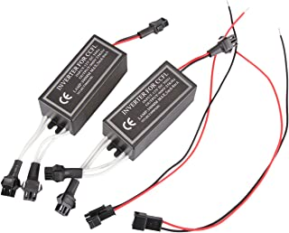 2PC CCFL Halo Ring Angel Eye Lights Inverter Ballast Replacement 12V Input Male From Madlife Garage