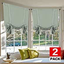 H.VERSAILTEX Blackout Tie Up Curtain Light Reducing Energy Efficient Window Shades Rod Pocket Panels for Kid's Room (Set of 2 Panels, Sage Curtain, 42W x 63L)