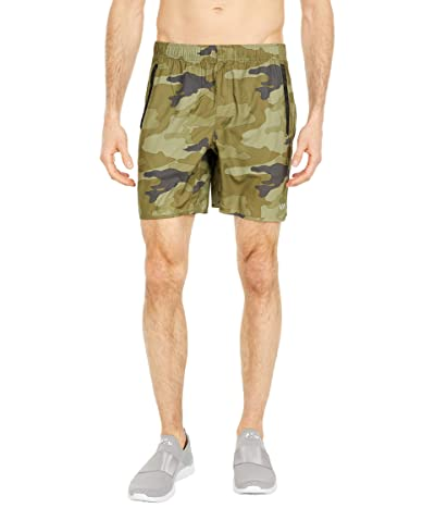 RVCA Yogger IV Shorts (Green Camo) Men