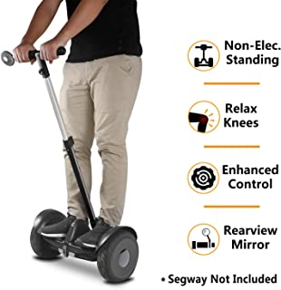 AUBESTKER Handlebar Kickstand 3 in 1 Kit for Segway Ninebot S miniPRO, Adjustable Height | Release Knee Pressure | Self Balancing Scooter Accessories
