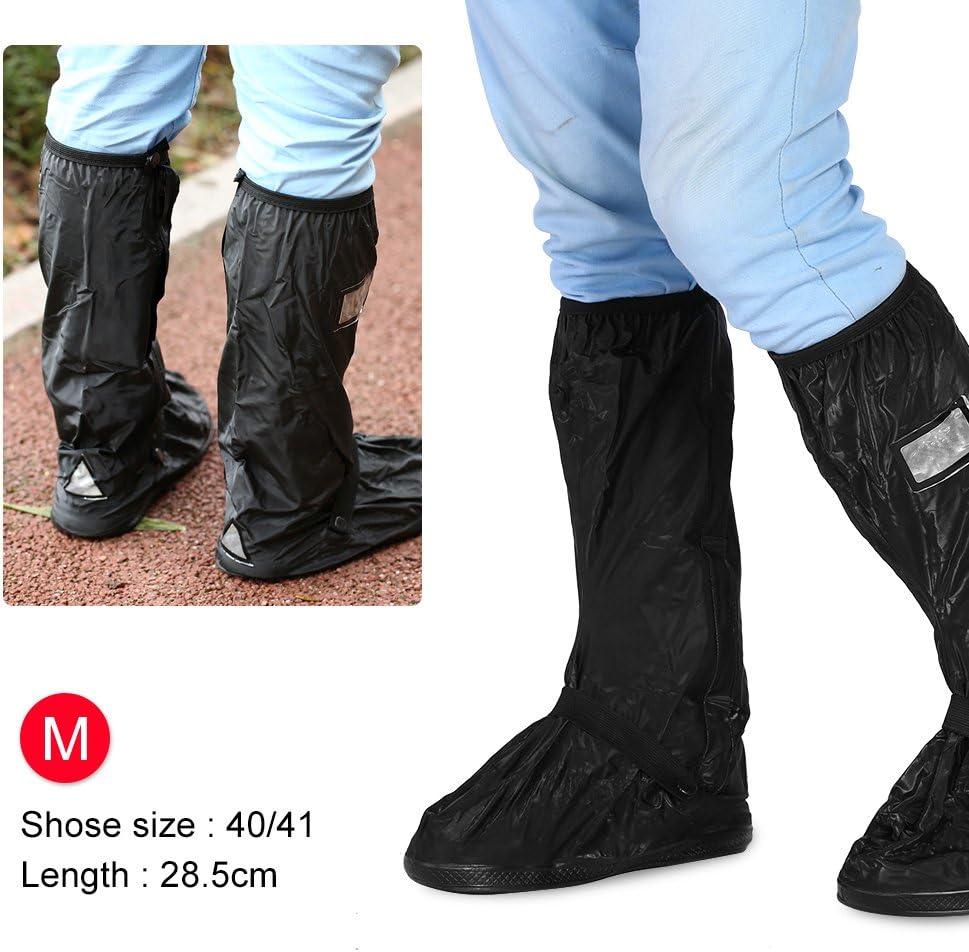 nera o trasparente S-Nero Copriscarpe antipioggia impermeabile per stivali da neve Copriscarpe da moto per donna Uomo Cerniera antiscivolo 2 pezzi