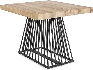 Menzzo Table a Manger avec Pied de Table Metal | Table Extensible Salle a Manger ou Table Cuisine avec Pied Central| Bois,...