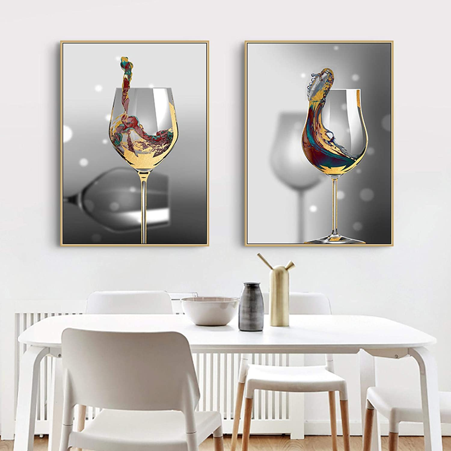 Sunsightly Canvas Ranking TOP5 Prints sold out Modern Abstract P Art Wine Glass