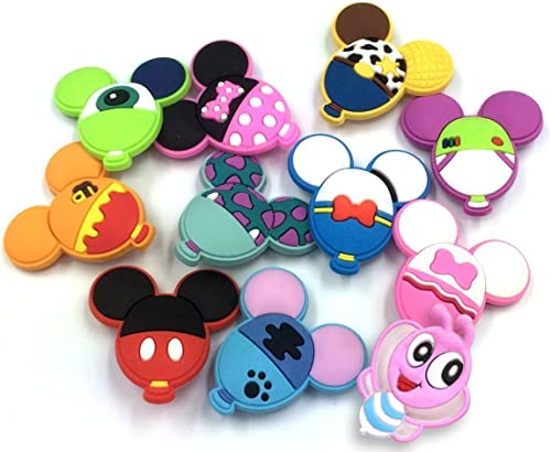 11pcs Cute Balloon Shape shoe charms for Shoe Decoration Wristband Bracelet Party Gifts