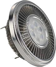 SLV 551602 G5.3 15 W 2700 k 30 Degree Metal LED AR111 CREE XT-E NV-Reflector Lamp, Silver/Transparent