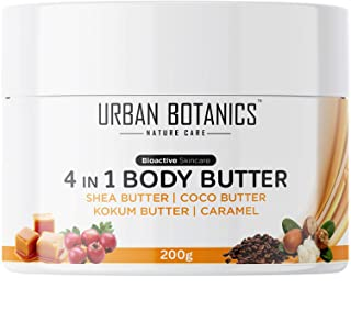 UrbanBotanics® 4 in1 Body Butter For Dry Skin/ Normal Skin/Itchy Skin & Stretch Marks with Shea Butter, Cocoa Butter, Koku...