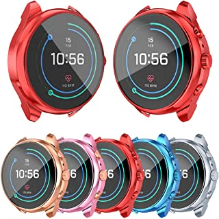 [5-Pack]Screen Protector Case Compatible with Fossil Women's Sport 41mm FTW6022 Cover, All-Around TPU Plated Protective Fr...