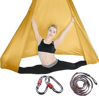 Brinny Aerial Yoga Tuch Premium Silks Aerial Equipment DIY Elastische Yoga Hängematte Tuch Sling Swing Vertikaltuch Yogatu...