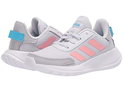adidas Kids Tensaur Run (Little Kid/Big Kid) (Dash Grey/Glory Pink/Bright Cyan) Girl