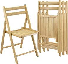 Winsome Wood Folding Chairs, Natural Finish, Set of 4