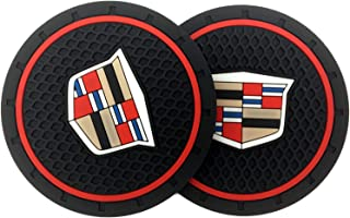 Dedicated to Cadillac Decorative Accessories 2PC Coasters, Suitable for Cadillac Escalade, etc. (2.75 inch)