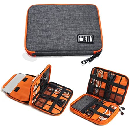 TOUARETAILS Travel Digital Accessories Storage Bag, Gadget Organizer Case Portable Zippered Pouch For All Small Gadgets Tablet, iPad Mini, Charger, Power Bank, Earphones, Memory Card, USB Data Cable, Camera Accessories Pen Drive etc