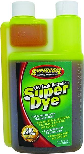SUPERCOOL 27606 A//C Dye Syringes Kit,PK12
