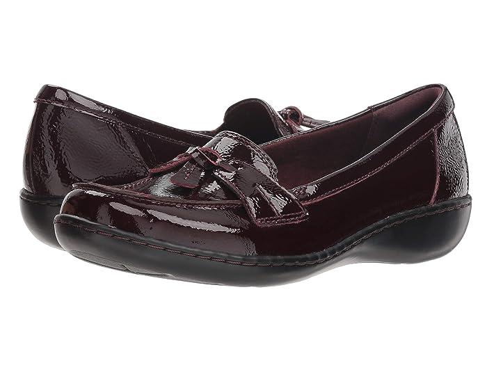 Clarks  Ashland Bubble (Burgundy Patent Leather) Womens Slip on  Shoes