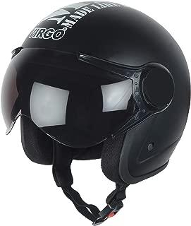 Virgo helmet ISI Certified BLT Color Black Matt finish Tinted visor
