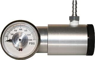 0.5 Lpm Flow Rate GASCO 70-Trigger-0.5 Brass Trigger Sprayer Regulator with 1500 psi Gauge for 34 L 74 L 103 and 116 L Cylinders 58 L