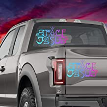 CELYCASY Space Jesus Holographic Car Decal Glitter Vinyl EDM Mac Laptop Bumper Sticker Phone Window