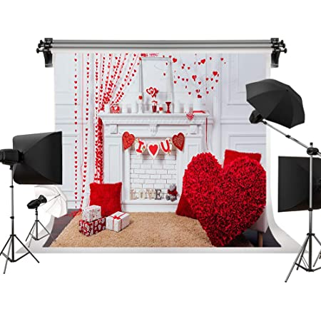 Wedding Backgrounds Red Roses Backdrops Spring Indoor Decorations Backgrounds Photography Props W x1.5m H Kate 7x5ft//2.2m