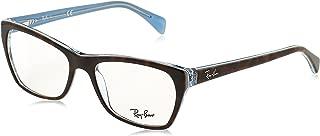 Women's RX5298 Eyeglasses Top Havana On Havana Blue 53mm