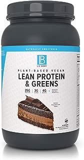 LIV Body   Plant-Based Vegan Lean Protein + Greens   Digestive Enzymes + Probiotics (German Chocolate Cake)
