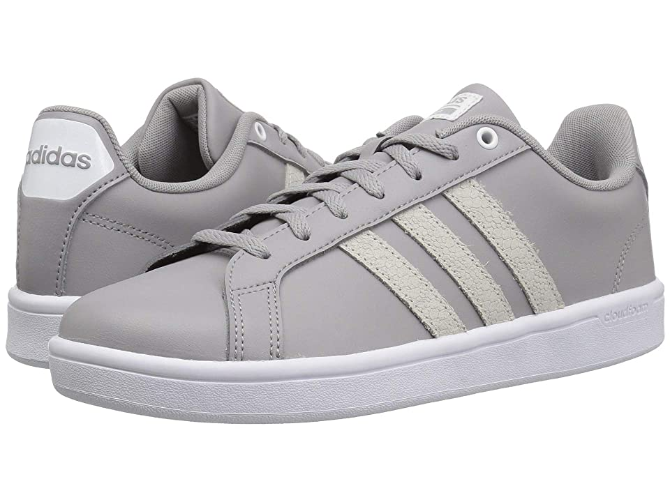 adidas Cloudfoam Advantage (Light Granite/White Leather Embossed Stripe) Women