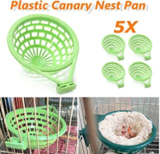 Xiaolanwelc@ 5Pcs/Lot Large Palstic Canary Nest Cage Pan Liner For Nesting Canaries Finches Budgies Pet Birds Hatching Tools Supplies