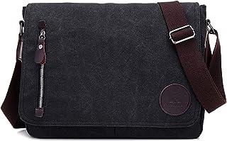 Men's Shoulder Bag Leisure One Shoulder Crossbody Bag with Large Capacity Bags (Black)