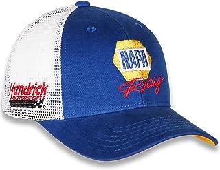 48529a9f882 Checkered Flag 2019 NASCAR Vintage Draft Sponsor Trucker Mesh Adjustable Hat  Cap