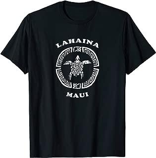 Lahaina Maui T-Shirt Vintage Tribal Turtle Vacation Tshirt