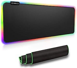 RAGZAN RGB Gaming Mauspad XXL-Mousepad mit 7 LED Farben 14 Beleuchtungs Modi Mouse Pad Computertastatur Maus Pad mit Wasse...