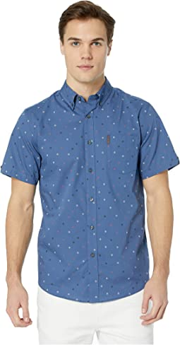 Short Sleeve Scattered Target Print Shirt