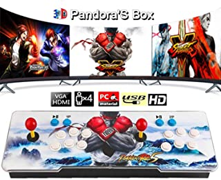 3D Pandora Games Arcade Game Console - 4300 Games Installed, Pandoras Box with Arcade Joystick Double Stick, Support 3D Ga...