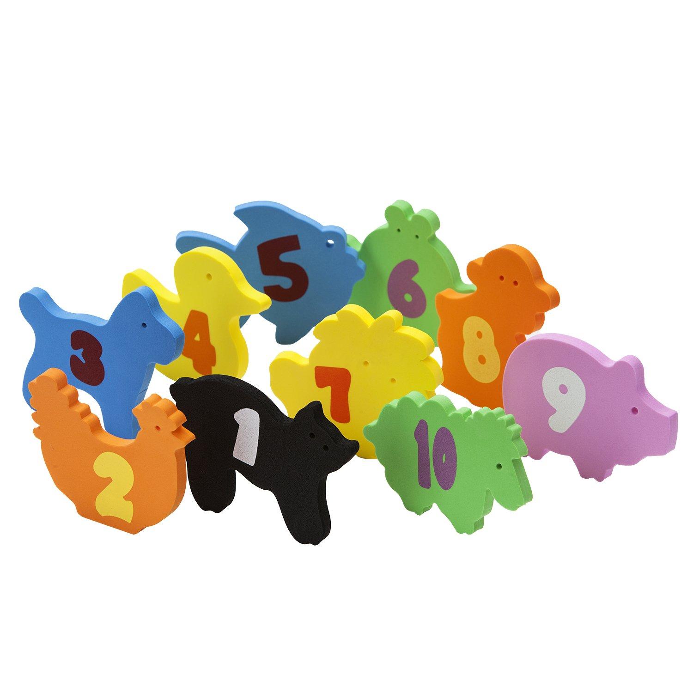 Clevamamaベビーバスのおもちゃと整頓された袋 - 柔らかい泡