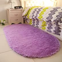 Bedside Rug, Warm Winter Children's Room Princess Room Comfort mats 100 * 200cm (Color : Purple)